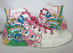 Womens-7-Converse-Chuck-Taylor-All-Star-high-top-CARTOON-GRAFFITI-Sneakers-shoes
