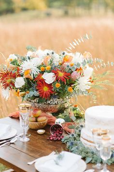 Rustic Autumn Table Setting   Aperture Vision Photography on @artfullywed via @aislesociety