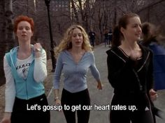 Well I def smiled... #sexandthecity #girls #bffs
