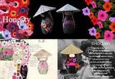 Shimai doll- Japanse popjes  Papier-maché en papiermozaïek