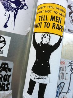 This sticker seen on a street sign at 11th and Olive on Capitol Hill in Seattle; probably leftover from Slutwalk.