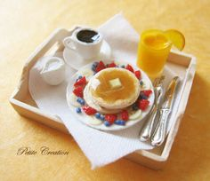 Breakfast in Bed  (1/12th Scale Dollhouse Miniature).
