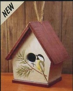 Bird House Hand Painted Wood A Frame Multi Color Nesting Box Adventure Marketing
