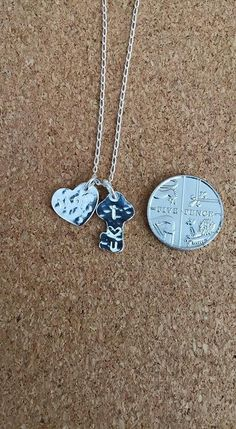 Silver Heart pendant Key Silver Necklace Ideal by flowerpecker
