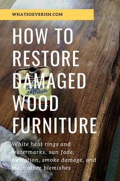 Restoring damaged wood