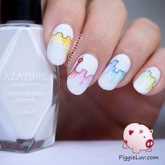 PiggieLuv: Aquarelle/water color city skyline nail art
