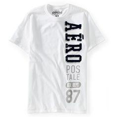 Camiseta Aeropostale Vertical Logo Graphic branca R$59