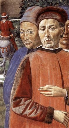 St Augustine Departing for Milan (detail). 1464-65 Fresco Apsidal chapel, Sant'Agostino, San Gimignano.