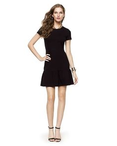 "Juicy Couture Solid Ponte Ruffle Dress Feminine and flirty, the classic little black dress flaunts in a ruffled silhouette and flatters in a soft ponte construction. Ruffled hem. 34"" HPS  Dry Clean  Imported  Viscose/poly/elastane"