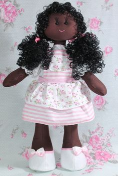 Boneca Vivi Lopes com cabelo sintético