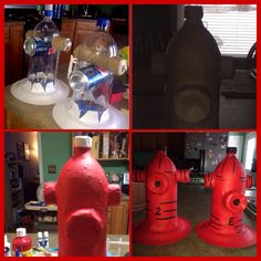 Recycled into fire hydrant for doggie party (or fire fighter party). KDR