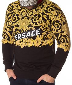Versace Bluza Application AW2011 - Neagra | Bluze | Bluze | Brande Donatella Versace, Gianni Versace, Christopher Kane, Christmas Sweaters, Sweatshirts, Fashion, Haute Couture, Moda, Fashion Styles