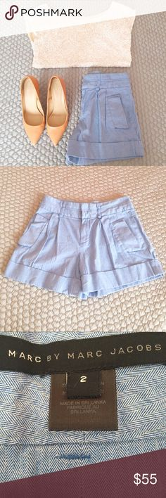 Marc by Marc Jacobs Tailored Shorts! These perfect tailored short by Marc Jacobs are the ideal Summer shorts. Wear them with a basic tee and flat sandals for day to day or dress them up with nude heels and a white sequined top as pictured. These are gently used but in good condition! Marc by Marc Jacobs Shorts