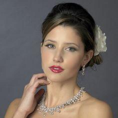 Glamorous CZ Wedding Jewelry Set ne8758