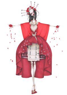 Impression d'art Reine de coeur par CamillPfister sur Etsy