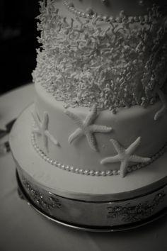 Jordan Trusell Wedding Beach theme Wedding cake www.eventsbysf.com