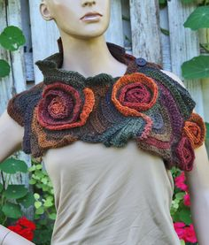 Hey, I found this really awesome Etsy listing at https://www.etsy.com/listing/248820430/crochet-scarf-capelet-neck-warmer-unique
