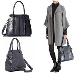 """NWT Liebeskind Berlin Karla Leather Satchel Brand new Liebeskind Berlin Karla leather satchel in """"French Grey."""" This bag is so beautiful! It can look more grey or blue depending on the light. Perfect for travel! ✈️ Dust bag included. Dual rolled top handles with detachable, adjustable shoulder strap. Zip top closure. Exterior features dual front zip pockets & slip wall pocket. Interior features zip wall pocket, slip wall pocket & two media pockets. Leather exterior, textile lining…"""