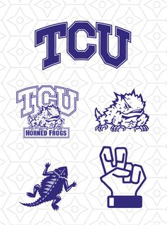 TCU Horned Frogs Sports Team Logo Collection by DesignsByTristan