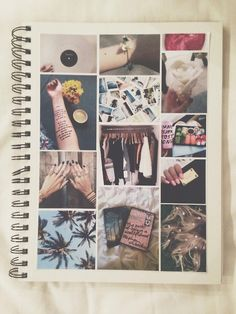 What is you made a collage of tumblr pictures on one side of your notebook them you re-created them yourself and that was the other side