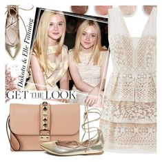 """""""Celebrity Siblings - Dakota and Elle Fanning"""" by ivansyd ❤ liked on Polyvore featuring Terre Mère, Steve Madden, GALA, BCBGMAXAZRIA, Valentino, GetTheLook and celebritysiblings"""