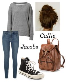 """Callie Jacobs ~ The Fosters"" by mumfordd ❤ liked on Polyvore featuring Current/Elliott, Frame Denim, Converse, AmeriLeather, women's clothing, women, female, woman, misses and juniors"