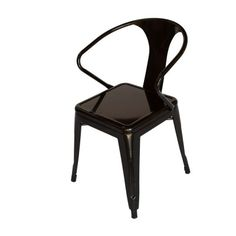 Black Metal Industrial Chair $99