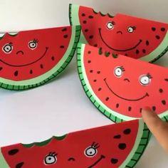 Summer Crafts For Kids, Summer Art, Diy For Kids, New Crafts, Diy Arts And Crafts, Fall Crafts, Toddler Crafts, Preschool Crafts, Art N Craft