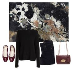 """Oxblood"" by trenchcoatandcoffee ❤ liked on Polyvore featuring True Religion, The Row and Mulberry"