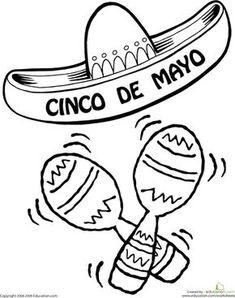 Worksheets: Color the Cinco De Mayo Sombrero