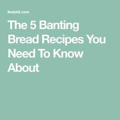 The 5 Banting Bread Recipes You Need To Know About Banting Bread, Banting Diet, Great Lunch Ideas, Us Foods, Bread Recipes, Need To Know, Low Carb Bread, Bakery Recipes