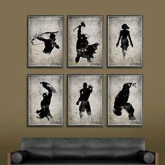 The Avengers Superheroes Iron Man, Hawkeye, Black Widow, Thor, Hulk and Captain America Superheroes A3 Movie Poster Set
