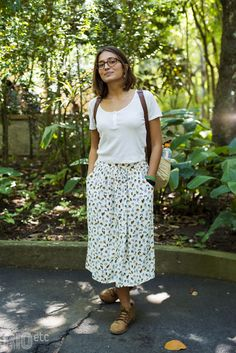 RIOetc | Corporal Modest Outfits, Simple Outfits, Skirt Outfits, Modest Fashion, Pretty Outfits, Cute Outfits, Fashion Outfits, Summer Work Outfits, Summer Outfits Women