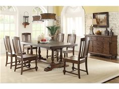 Shop for Riverside Rectangular Dining Table Top, and other Dining Room Table Tops at Ramsey Furniture Company in Covington and Atlanta, GA. Glass Dining Table Set, Rectangle Dining Table, Dining Table Chairs, Side Chairs, Dining Sets, Room Chairs, Dining Rooms, Howell Furniture, Riverside Furniture