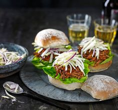 Try our Spicy BBQ pulled pork buns with kohlrabi slaw, a perfect weekend crowd pleaser. These buns are low in calories and can serve up to 10 people easily