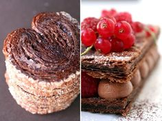 Chocolate Mille-Feuille :: Cannelle et Vanille (chocolate puff pastry, a lot of work, but the results...)