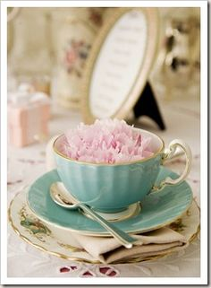 A flower favor in each cup for each lady at the party?