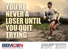 Post with 3 votes and 798 views. Shared by You're never a loser until you quit trying Great Motivational Quotes, Motivational Wallpaper, Inspirational, Fitness Quotes, Fitness Motivation, Backgrounds Girly, Run Runner, Photo Quotes, Bodybuilding