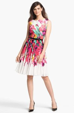 Adrianna Papell Print Fit & Flare Dress available at #Nordstrom