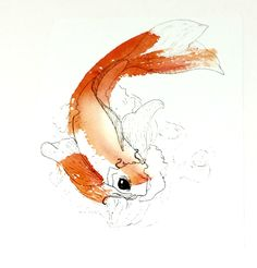 Koi Painting, Koi Fish Wall Art, Koi Art, Koi Fish Art, Watercolor Fish print, Fish Art Print, Gift for Children's Room, Nursery Wall Decor by MariaOglesbyArt on Etsy