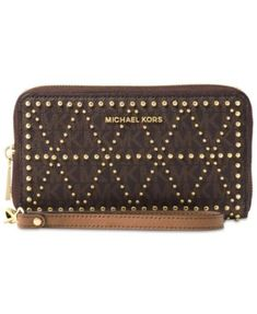 f5c6a65f164c Michael Kors Large Flat Multifunction Phone Case & Reviews - Handbags &  Accessories - Macy's