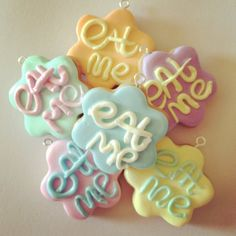 Alice in wonderland inspired cookie polymer clay by Dottyandthebug, £2.00