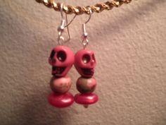 Earrings 117 Smiling Skulls by AllMyEarrings on Etsy