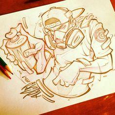 Banksy Graffiti, Graffiti Art Drawings, Graffiti Pictures, Graffiti Doodles, Graffiti Tattoo, Graffiti Cartoons, Graffiti Designs, Graffiti Characters, Graffiti Alphabet
