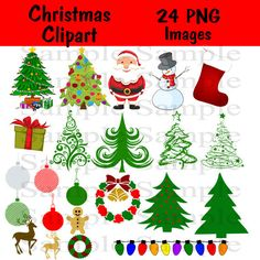 Christmas Clipart  INSTANT DOWNLOAD Xmas Clip art by BridalBust