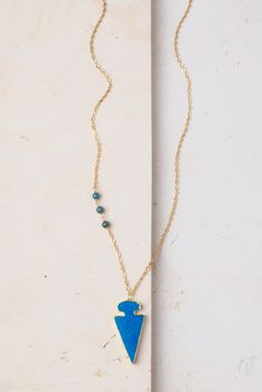 Rydel Arrow pendant & gold necklace. Handmade by women who are beginning a new life at Starfish Project. When you buy Starfish Project jewelry, you are investing in our mission to transform lives and restore hope to exploited women.