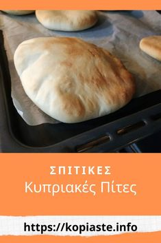 Cypriot pitta bread are much different to the Greek pitas. They are flatbread like the other pita but are different in shape and in taste. Baking Tins, Baking Recipes, Pitta Bread Recipe, Cypriot Food, Greek Pita, Greek Dishes, Pita Bread, Greek Recipes, Brunch Recipes