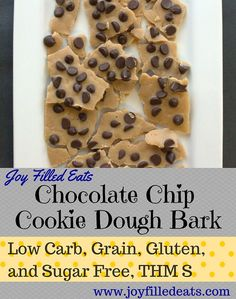 If you like Cookie Dough you have to try this. It looks like a bark but tastes like cookie dough. It is low carb, gluten, grain, & sugar free, & a THM S.