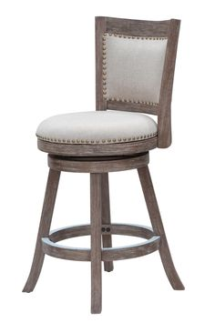 Furniture Fashion Creative Bar Stool Lifting Chair Swivel Bar Chair Fashion Linen Solid Wood High Stool.