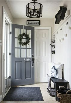 Refresh your entry with a new door color.  Big impact without a lot of work.   #windowtreatments #blinds #shades #curtains #venetian #custom #design #interiordesign #designcenter #window #woodfloors #wood #faux #dashandalbert #rugs #runners #style #homeimprovement #homeowner #accent #nh #shoplocal  #paint #homeowner #interiordesign #interiordecorator #design #beautiful #homeimprovement #update #new #exeterpaint #epping #seabrook #nh #shoplocal #exeter #epping #nh #shoplocal